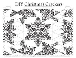 Christmas Cracker Template.Free Christmas Cracker Template