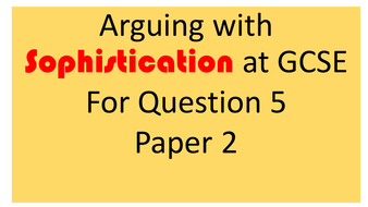 FREE RESOURCE! - Supporting Persuasive Writing at GCSE PowerPoint