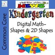 Whiteboard Kindergarten Shapes