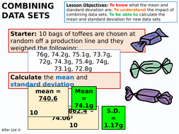 Statistics s1 combining data sets mean standard deviation statistics s1 combining data sets mean standard deviation by ajf43 teaching resources tes ccuart Images