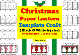 christmas paper lantern template craft by swati3 teaching