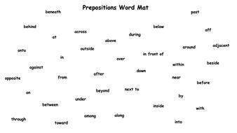 preposition word mat by krisgreg30 teaching resources tes
