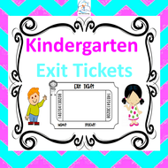 Kindergarten ELA and Math Exit Tickets - Common Core Aligned