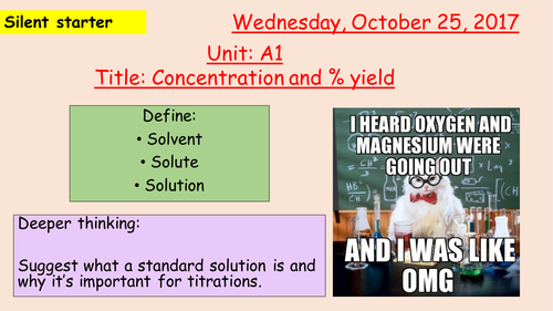 Pearson BTEC New specification-Applied science-Unit 1-Concentration & Percentage yield