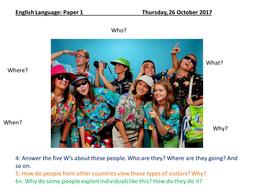 English Language - 1 Year AQA Language Paper 1 Reading