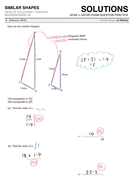 GCSE 9-1 Exam Question Practice (Similar Shapes) by