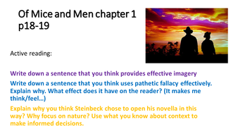 imagery in of mice and men