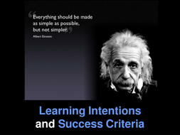 Learning Outcomes and Success Criteria - teacher training and support pack