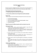 new higher critical essay questions by katcustard  teaching  new higher critical essay questions