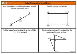 Coordinates Problem Solving Worksheet Mastery By Phlynn Teaching