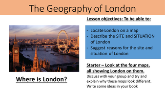 KS Year The Geography Of London Unit By Quentinheal - Where is london