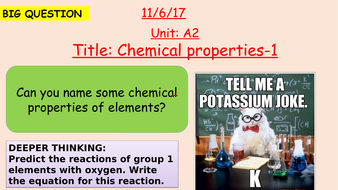 Pearson BTEC New specification-Applied science-Unit 1-Chemical properties of elements-1-A2