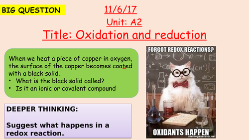 Pearson BTEC New specification-Applied science-Unit 1-CP-Oxidation and reduction-2-A2