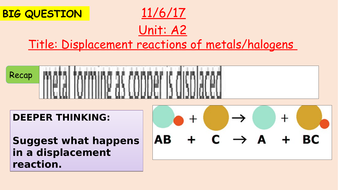 Pearson BTEC New specification-Applied science-Unit 1-Displacement reactions of metals/halogens-A2