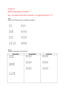 White Rose Maths Hub Fraction Step 2 (Order and Compare Fractions)