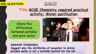 AQA new specification-Water purification required practical-C12.2