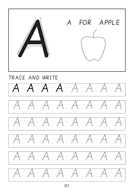 Set of cursive capital letters A-A to Z-Z dot to dot worksheets with pictures