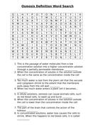 Osmosis definition worksheet