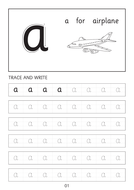 Set of simple small a-a to z-z dot to dot worksheets with pictures
