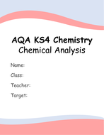 AQA KS4 Chapter 8: Chemical Analysis Booklet (With Required Practical)