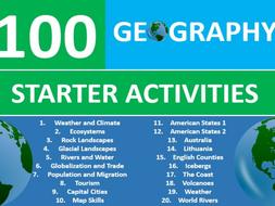 100 geography starter activities gcse ks3 wordsearch crossword anagrams etc cover plenary lesson. Black Bedroom Furniture Sets. Home Design Ideas