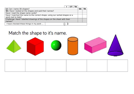 Y1 planning and resources for White Rose Maths Block 3 Shape