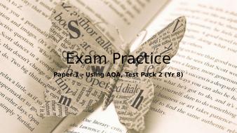 New AQA English Language Paper 1 Exam Prep for Year 8