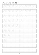 Set of cursive letter A-a to Z-z line worksheets sheets