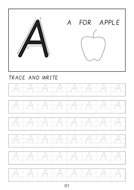 Set Of Cursive Capital Letters A To Z Line Worksheets Sheets With Pictures