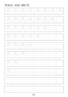 Set of cursive capital letters A to Z line worksheets sheets