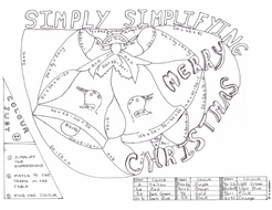 Simplifying Expressions Xmas Colouring Worksheet by