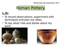 Art Roman pottery year 3/4