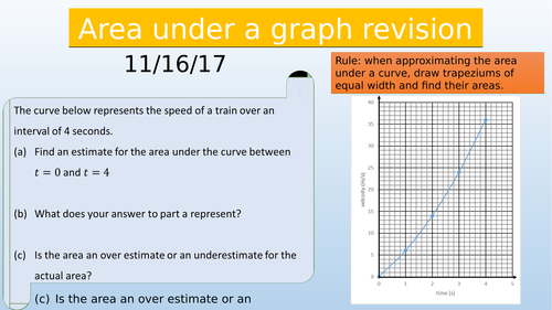 Properties of a velocity time graph revision