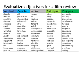 format for film review