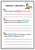 IMPROVING A SENTENCE - STAGES 1 & 2