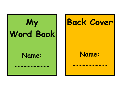 A simple word book to print off and use for each child in your class
