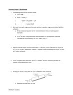 Acid and Bases, Titration, pH Indicators Worksheets (3 ...