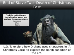 A Christmas Carol End of Stave 3: Ignorance and Want | Teaching Resources