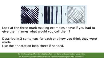 AQA Art and Design Mark Making Lesson KS4