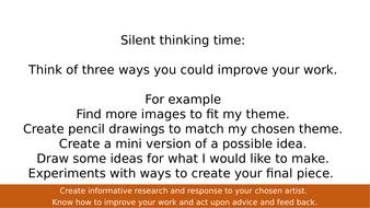 AQA Art and Design KS4 Research Lesson.