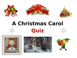 A Christmas Carol Quiz by cvine   Teaching Resources