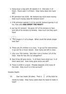 Fractions of a number word problems with greater depth