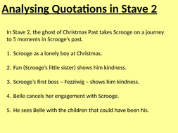 STAVE 2 - A Christmas Carol -  lessons and resources