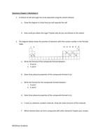 Ionic and Covalent Bonding Worksheets (5 Worksheets, over 60 questions)