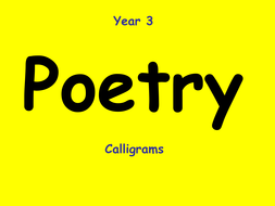Year 3 Poetry PowerPoint