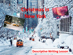 christmas in new york descriptive writing by engageinenglish  christmas in new york descriptive writing pptx