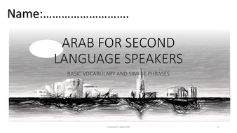 AFL- Basic Arabic for Beginners