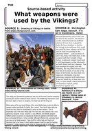 What weapons were used by the Vikings?