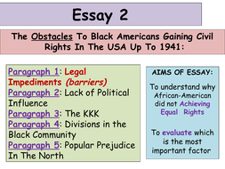 Science Fiction Essay  Updated Higher History Usa Essay  Obstacles To Civil Rights Persuasive Essay Thesis also Essay About English Class  Updated Higher History Usa Essay  Obstacles To Civil  Cheap Essay Papers