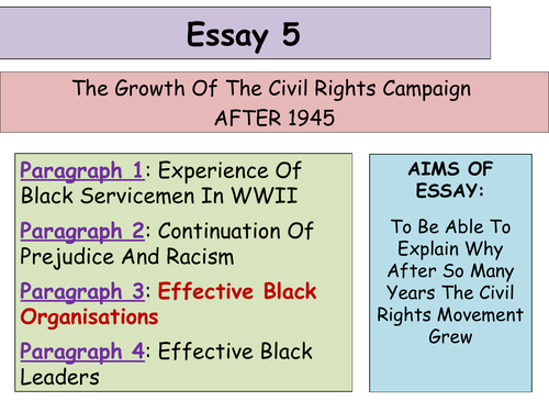 Thesis For Persuasive Essay  Updated Higher History Usa Essay  Development Of The Civil Rights  Movement By Alixtharris  Teaching Resources  Tes Essay On Being Responsible also Animal Extinction Essay  Updated Higher History Usa Essay  Development Of The Civil  Industrial Revolution Essays